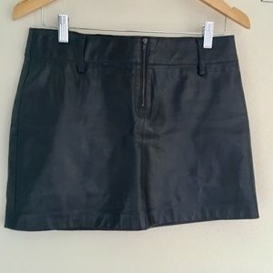 Leather mini skirt 4 front zip